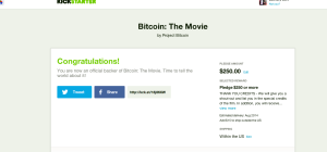 Zachary Burt of PeerCoin, Inc. donates $250 to kick-start production of the BitCoin movie